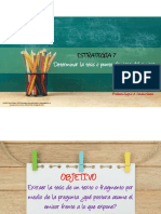 Estrategia 7 Determinar la tesis o punto de vista del emisor.