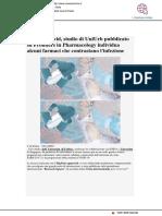 Covid, ricerca di Uniurb su Frontiers in Pharmacology - Vivere Marche.it, 19 novembre 2020
