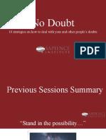 No-Doubt-Sapience-Institute-Course-Session-4