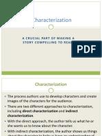 Characterization MYP notes