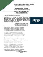 GUÍA 1.  MÚSICA PERÍODO 2.  CANCIONES VICKY ROMERO VIECO