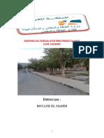 Rapport de jardin bouane mahdi