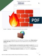 Configuración del firewall en Linux con IPtables