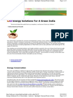 Energy Solutions For A Green India