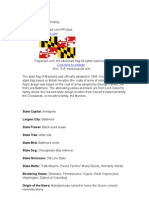 Maryland State Flag History