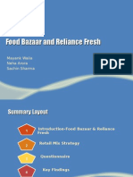 Food Bazaar and Reliance Fresh