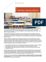 sel at home learning options
