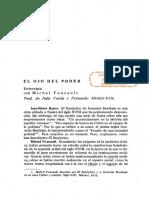 4)Foucault entrevista. Panoptico El ojo del poder