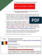 20.11.2020 Alerte de Calatorie COVID19