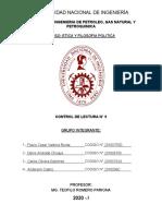 CONTROL DE LECTURA N° 9 - EL UTILITARISMO-BENTHAM Y MILL