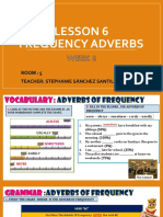 WEEK 8 - FREQUENCY ADVERBS