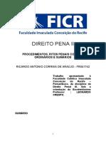 RICARDO ANTONIO C ARAUJO - FR041742 - 2º CICLO - PROCEDIMENTO RITOS COMUM ORDINARIOS E SUMARIOS