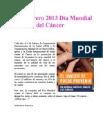4 de febrero de 2013 dia mundial del cancer