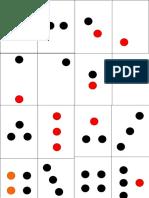 Cartões de pontos vermelho