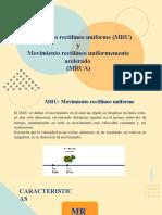 1.- Clase MRU y MRUA