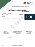 Ordinanza Covid Regione Lazio 20 Novembre 2020