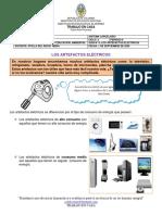 GUIA N°6 LOS ARTEFACTOS ELECTRICOS
