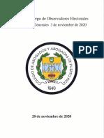 Informe Cuerpo de Observadores Electorales