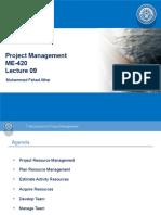 Lec 09 - Project Resource Management