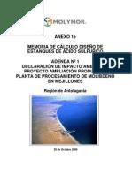 Claculo estanque de acero (normas chilenas)