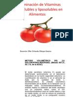Clase 13- Determinación de Vitaminas hidrosolubles y liposolubles en Alimentos