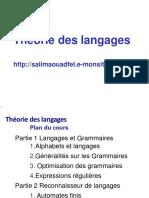 1. Alphabets Et Langages