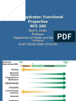 Carbohydrates functional properties