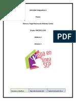 Prepa en Línea SEP Mod. 4 Semana 1 Actividad Integradora 2 Poesía