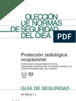 RSG 1.1 PROTECCION RADIOLOGICA OCUPACIONAL Pub1081s_web