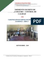 PROCEDIMIENTO, CONTROL DE CALIDAD