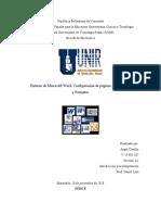 Entorno de Microsoft Word, Configuración de páginas, documentos y Formatos.docx
