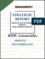 Project 2 Strategic report - automobile company