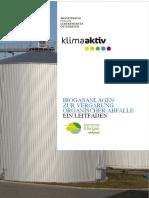 Leitfaden_BIOGAS Abfall_Gesamt fin_2017  Österreich