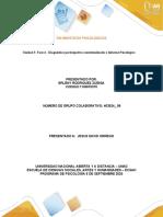 Unidad 3 Fase 4 - Diagnóstico participativo contextualizado e Informe Psicológico - copia