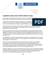 Michigan GOP Senate and House leaders joint statement on meeting with president