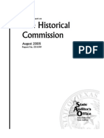 Texas State Audit of the Historical Commission, 2005
