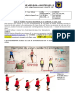 GUIA DE TRABAJO EDUCACIÓN FÍSICA 30 Marzo al 03 Abril 2020 PROFESOR. CÉSAR BELTRÁN