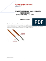 PROJECT REPORT ON CABLE MANUFACTURING (COPPER AND ALUMINIUM)
