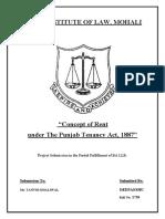 Land Laws Tenancy