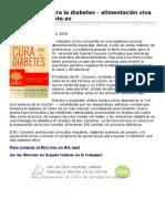 Hay Una Cura Para La Diabetes Alimentacin Viva