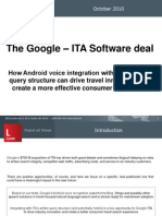 Lenati Point of View - The Google–ITA Software deal (Oct 10)
