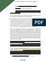Documento de declaración de testigo sobre elecciones en Estados Unidos