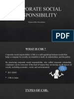 CORPORATE SOCIAL RESPONSIBILITY project