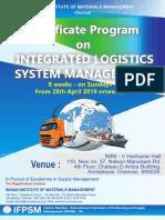 certificate-program-on-integrated-logistics-system-management-april-2019