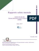 Rapporto Salute Mentale 2017
