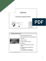 lec_Architectural lighting design