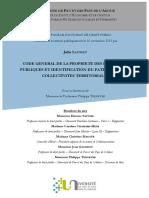 CODE GENERAL DE LA PROPRIETE DES PERSONNES PUBLIQUES ET IDENTIFICATION DU PATRIMOINE DES COLLECTIVITES TERRITORIALES