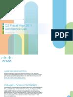 Cisco Q2FY11 Earnings Slides