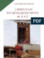 PLOQUIN. Le Bhoutan en quelques mots