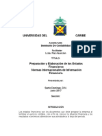 Preparación y Elaboración de los Estados Financieros